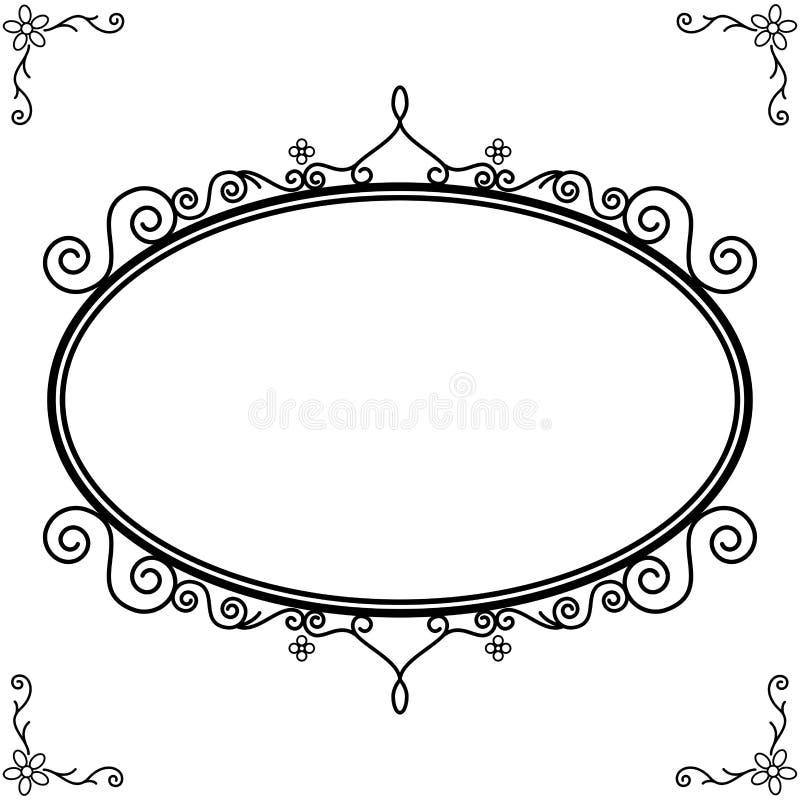 Królewska ornamentacyjna dekoracyjna owal rama royalty ilustracja