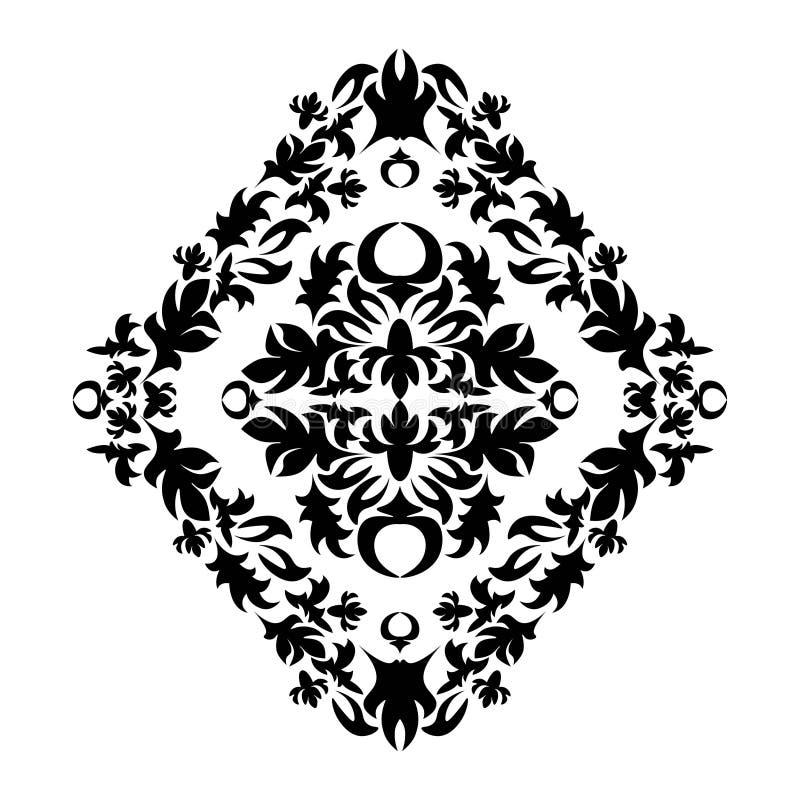 Królewski adamaszka wzór dla tkanina projekta Tapetowy barok, adamaszek ilustracja wektor