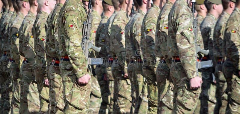 Królewski Anglian pułk na paradzie obrazy stock