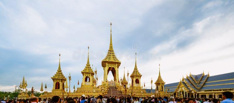 Królewski Crematorium dla Królewskiej kremaci jego wysokość królewiątko Bhumibol Adulyadej fotografia royalty free