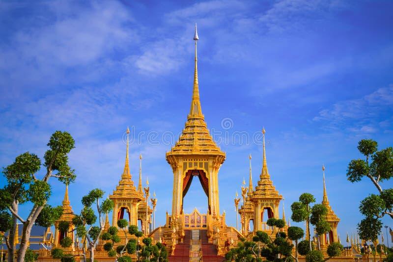 Królewski Crematorium jego wysokość królewiątko Bhumibol Adulyadej fotografia stock