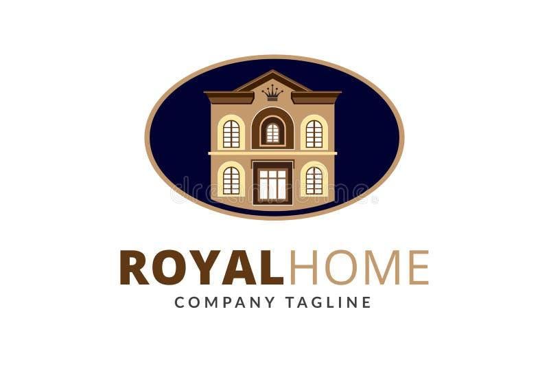 Królewski Domowy loga projekta szablonu wektor obraz stock