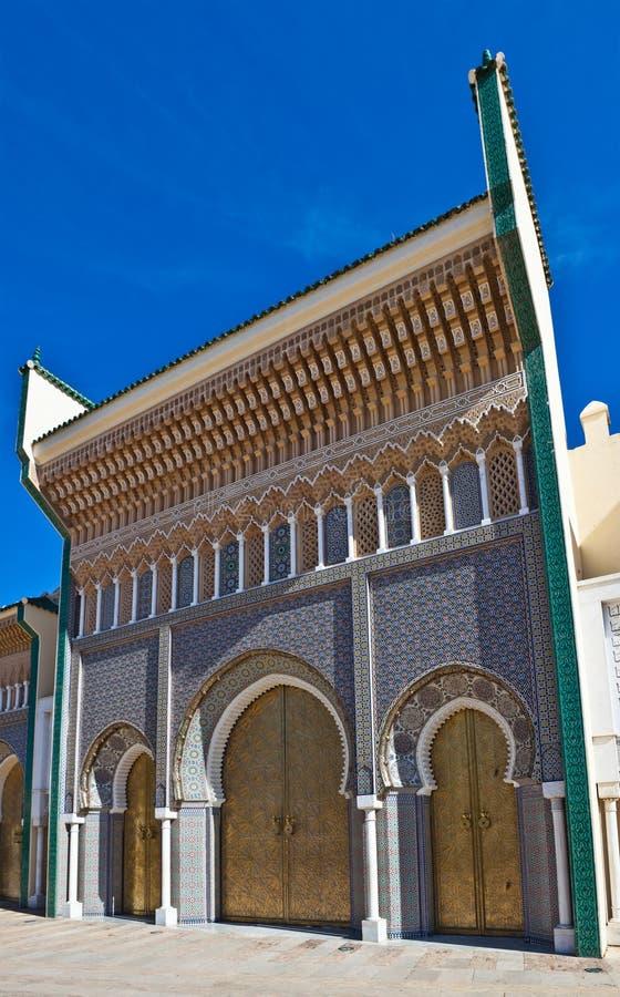 królewski fes pałac zdjęcie royalty free