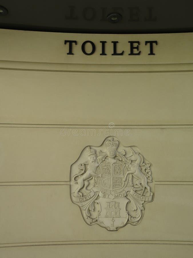 Królewski grzebień na toalecie zdjęcie royalty free