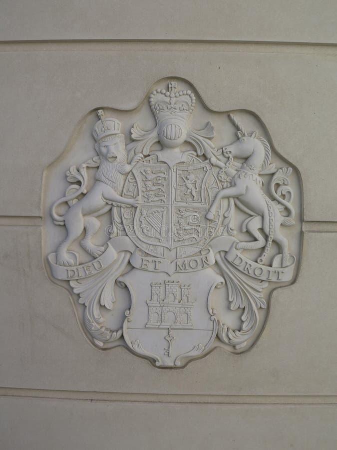 Królewski grzebień na toalecie zdjęcie stock