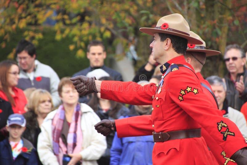 Królewski kanadyjczyk Wspinająca się policja zdjęcia stock