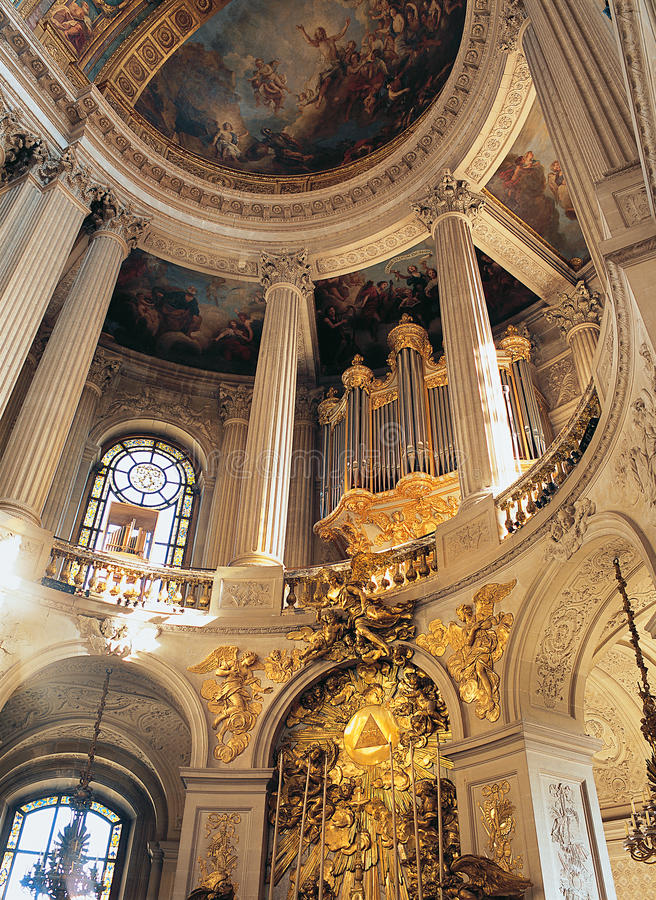 Królewski kaplicy Versailles pałac Francja fotografia stock