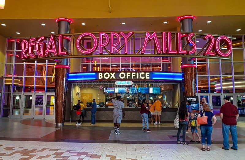 Królewski kina kino przy Opry CZERWIEC 16, 2019 Mleje Nashville, NASHVILLE -, usa - zdjęcie stock