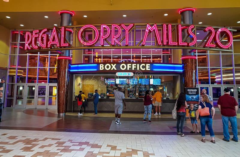 Królewski kina kino przy Opry CZERWIEC 16, 2019 Mleje Nashville, NASHVILLE -, usa - zdjęcia royalty free