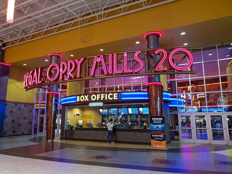 Królewski kina kino przy Opry CZERWIEC 16, 2019 Mleje Nashville, NASHVILLE -, usa - obraz royalty free