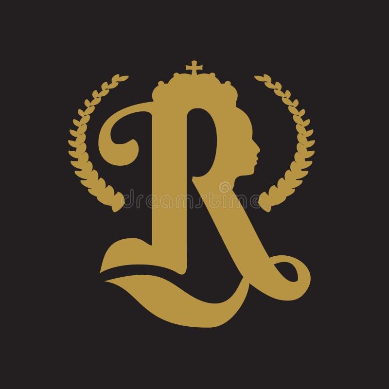 Królewski korona logo ilustracji