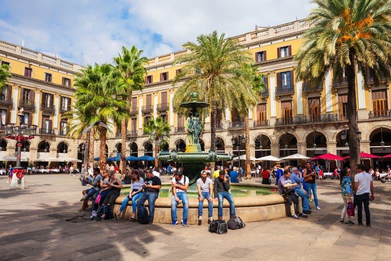 Królewski kwadrat, Barcelona (placu real) fotografia stock