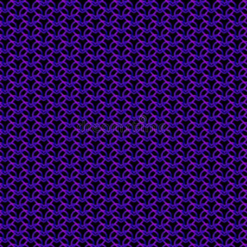 Królewski metalowy wzór fioletowych serc na czarnym tle fotografia stock
