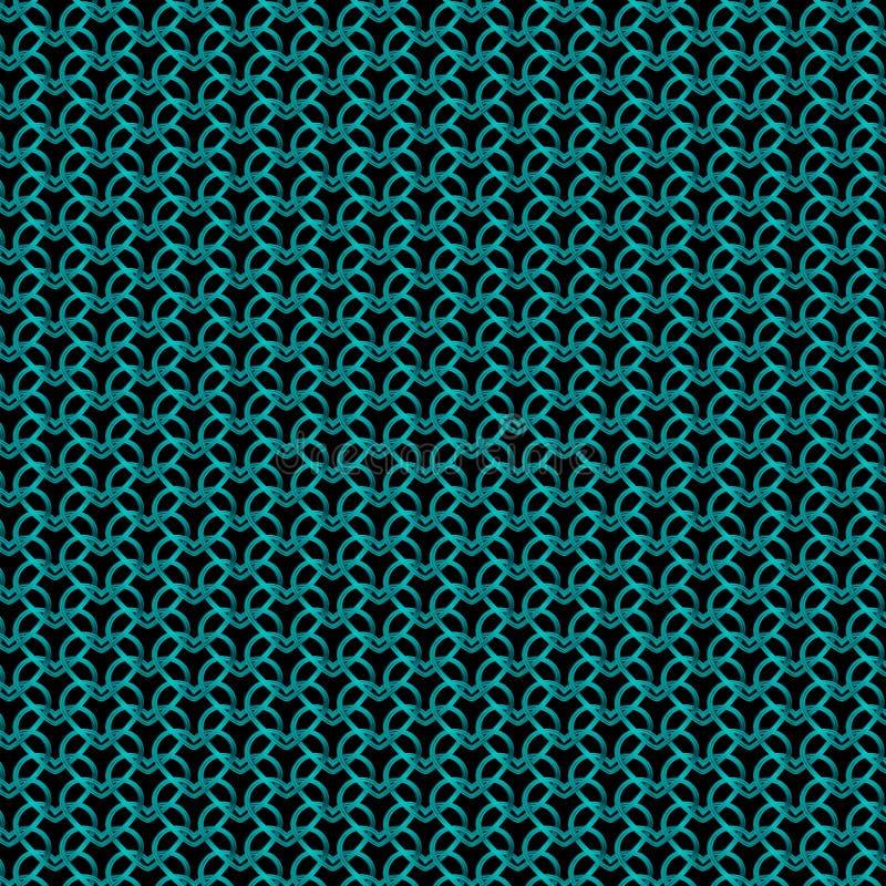 Królewski metalowy wzór jasnoniebieskich serc na czarnym tle zdjęcia royalty free