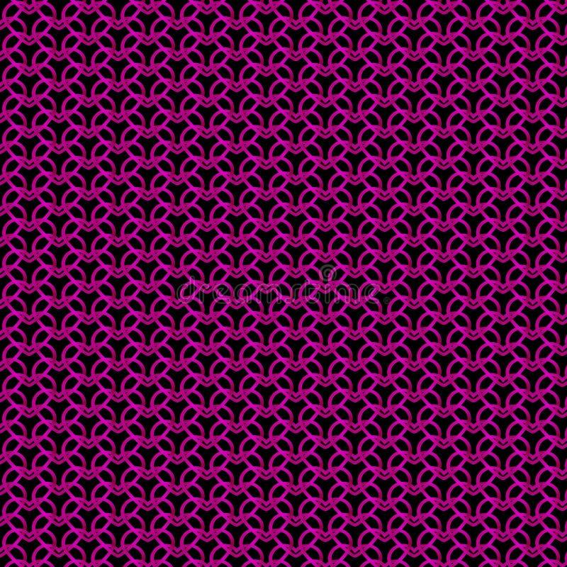 Królewski metalowy wzór różowych serc na czarnym tle obrazy stock