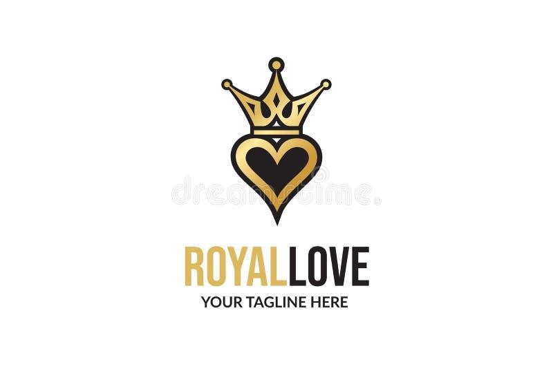 Królewski miłość loga projekta szablon fotografia royalty free