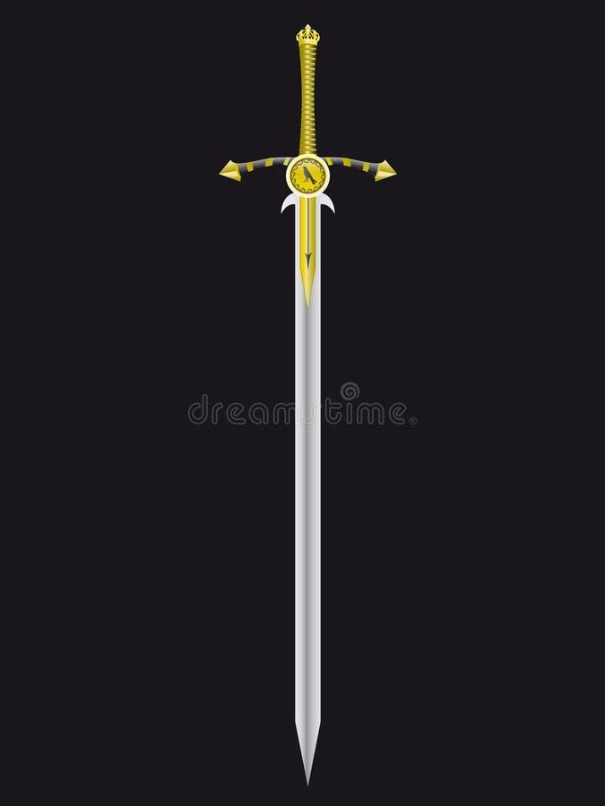 królewski miecz ilustracja wektor