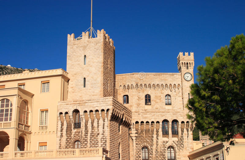 królewski Monaco fasadowy pałac zdjęcia stock
