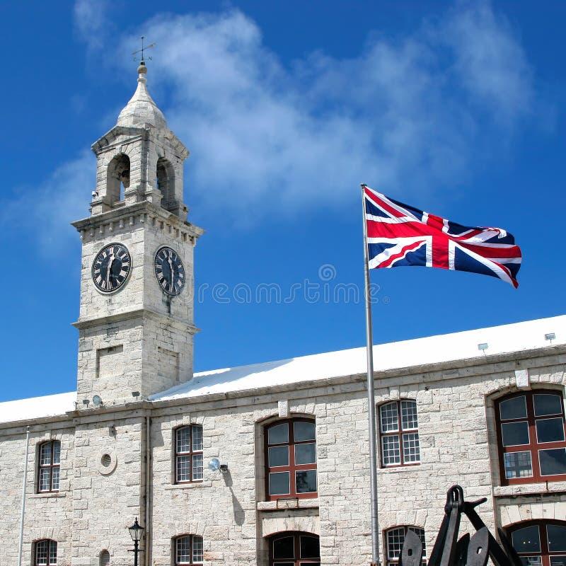 Królewski Morski Dockyard Bermuda Clocktower fotografia royalty free