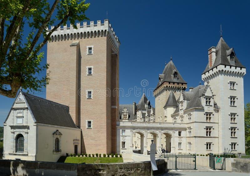 Królewski Pau kasztel w Francuskim mieście Pau fotografia royalty free