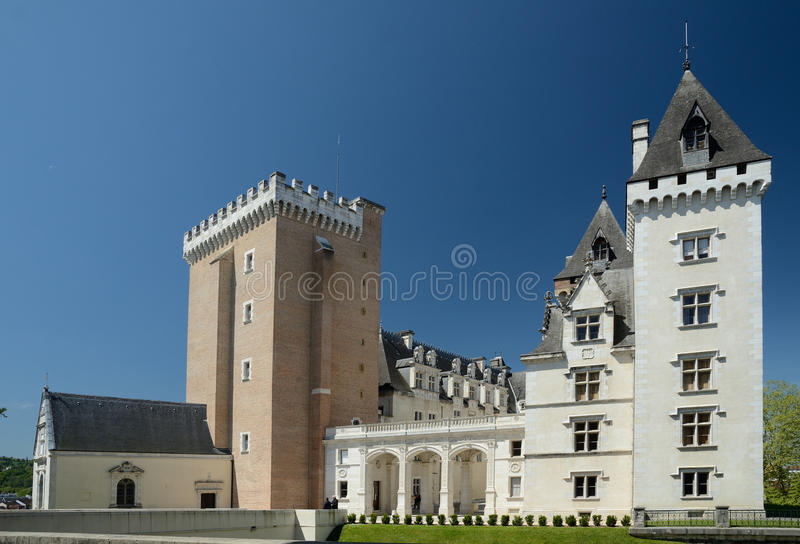 Królewski Pau kasztel w Francuskim mieście Pau fotografia stock