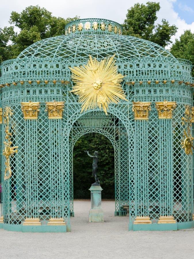 Królewski pawilon w Sanssouci parku w Potsdam, Niemcy zdjęcia stock