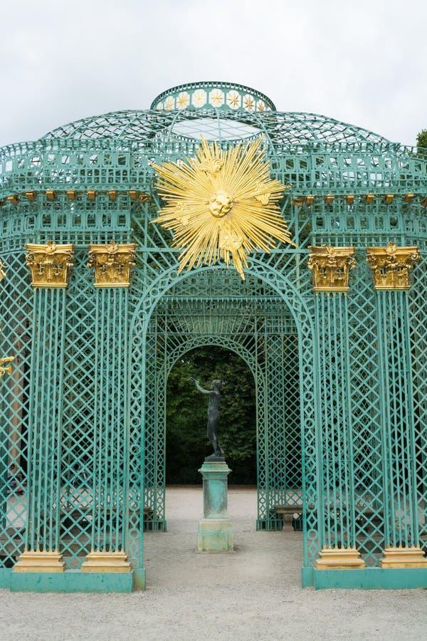 Królewski pawilon w Sanssouci parku w Potsdam, Niemcy zdjęcie royalty free