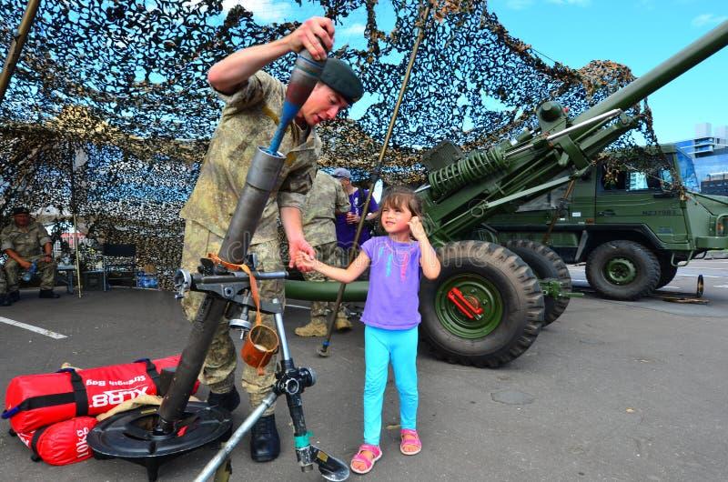 Królewski pułk Nowa Zelandia artylerii żołnierz obraz stock