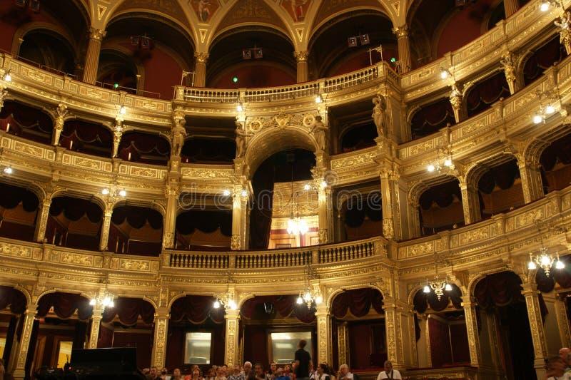 Królewski pudełko, opera Budapest obrazy stock