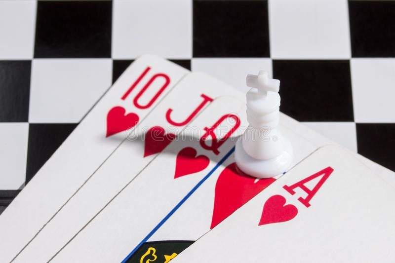 Królewski sekwens z szachowym królewiątkiem zdjęcie stock