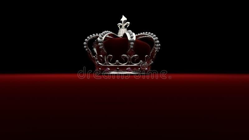 Królewski srebny korony tła królewiątko ilustracja wektor