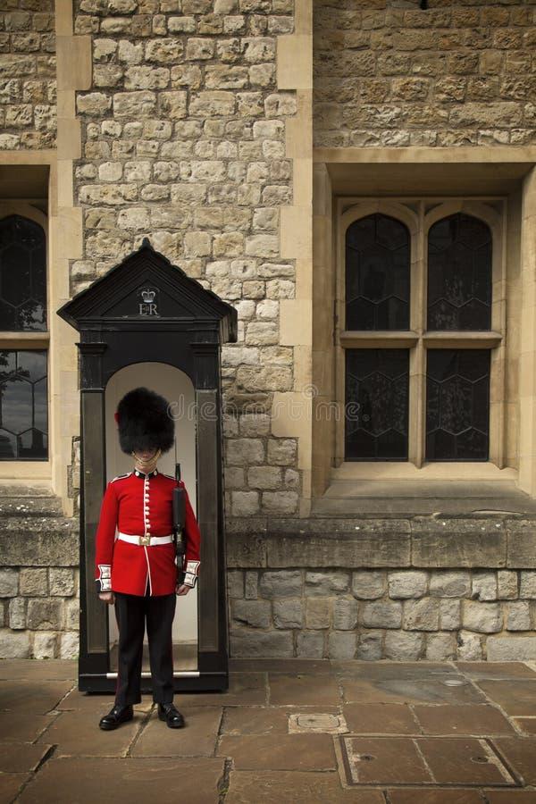 Królewski strażnik w wierza Londyn zdjęcia royalty free