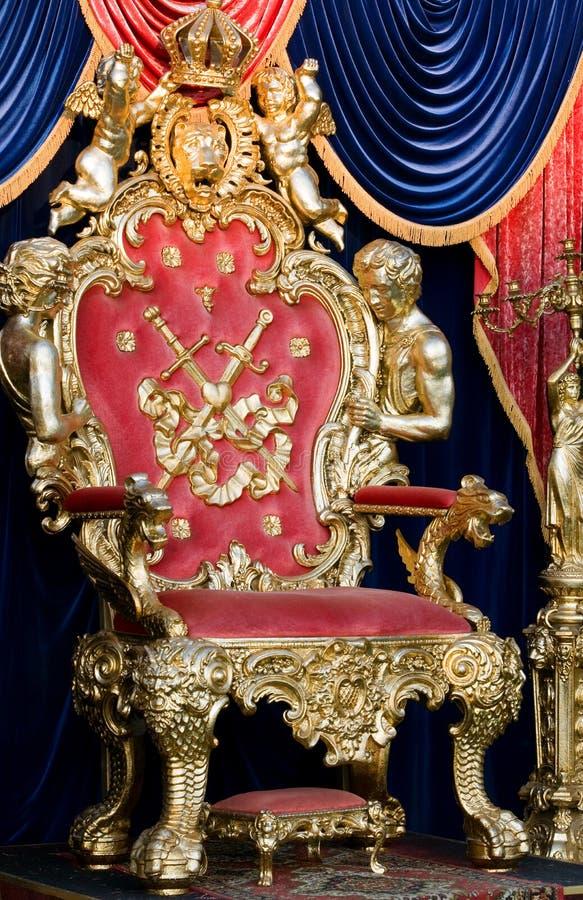królewski tron zdjęcie stock