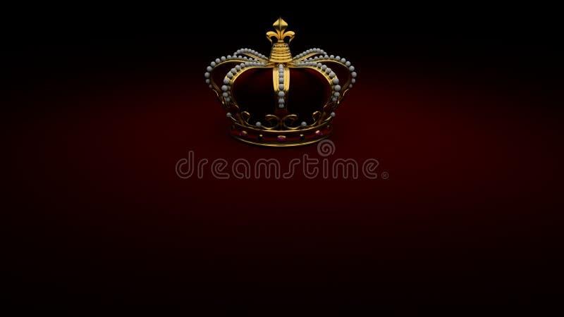 Królewski Złocisty korony tła królewiątko royalty ilustracja