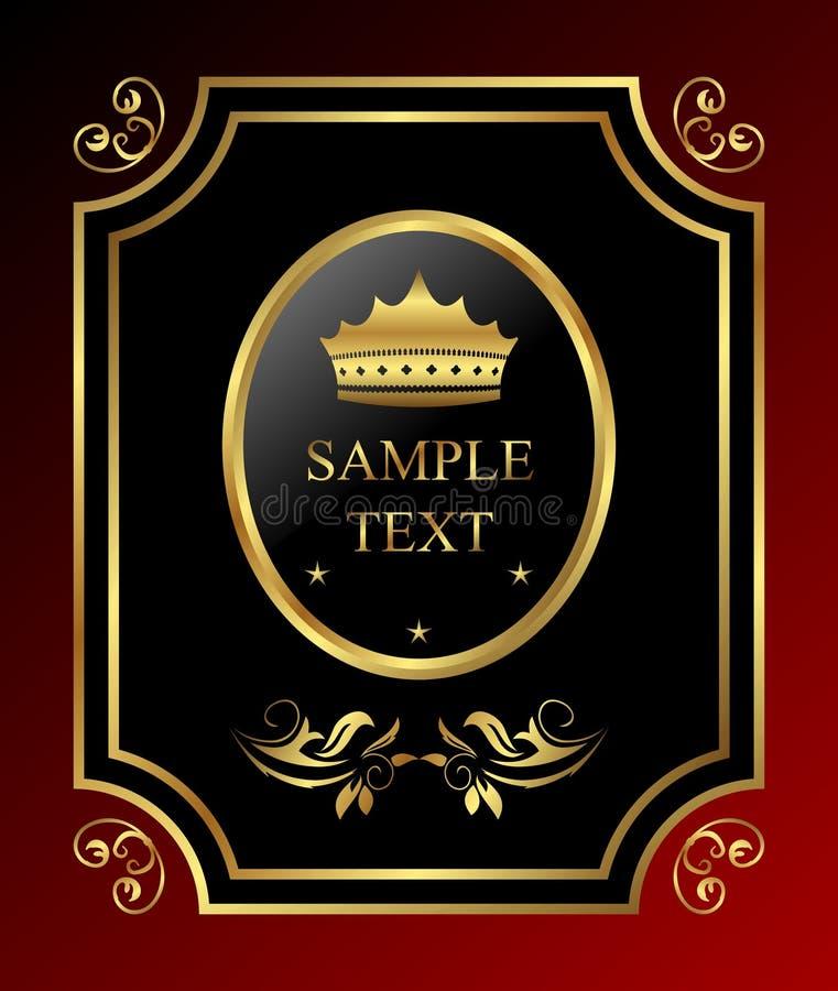 królewski złoty labe royalty ilustracja