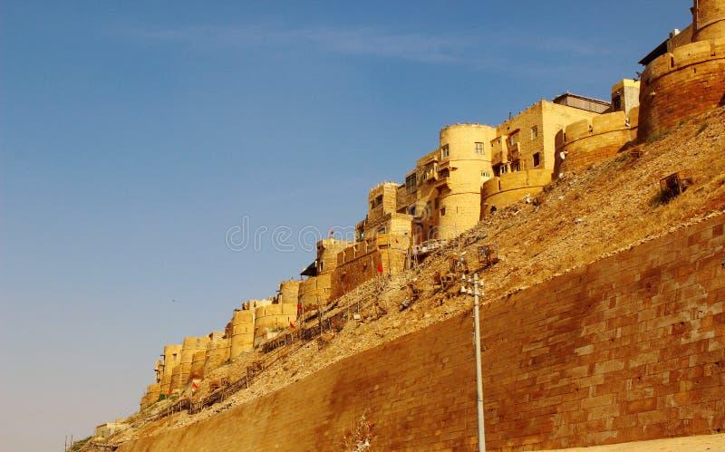 Królewski złoty piaskowcowy fortu Jaisalmer indiav fotografia royalty free