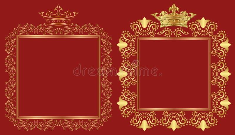 Królewskie ramy ilustracja wektor