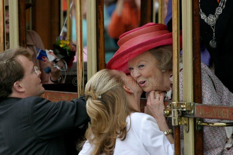 królewskie rodziny niderlandzki fotografia stock