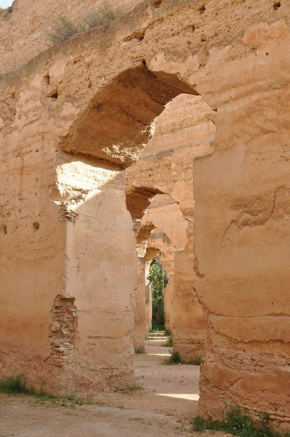 Królewskie stajenki w Meknes, Maroko zdjęcia royalty free