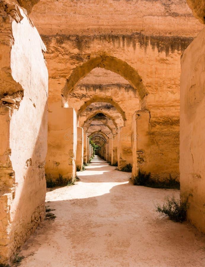 Królewskie stajenki w Meknes, Maroko zdjęcia stock