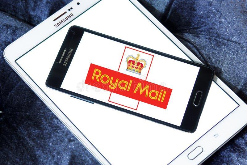 Królewskiej poczta towarzystwa żeglugowe pocztowy logo obrazy royalty free