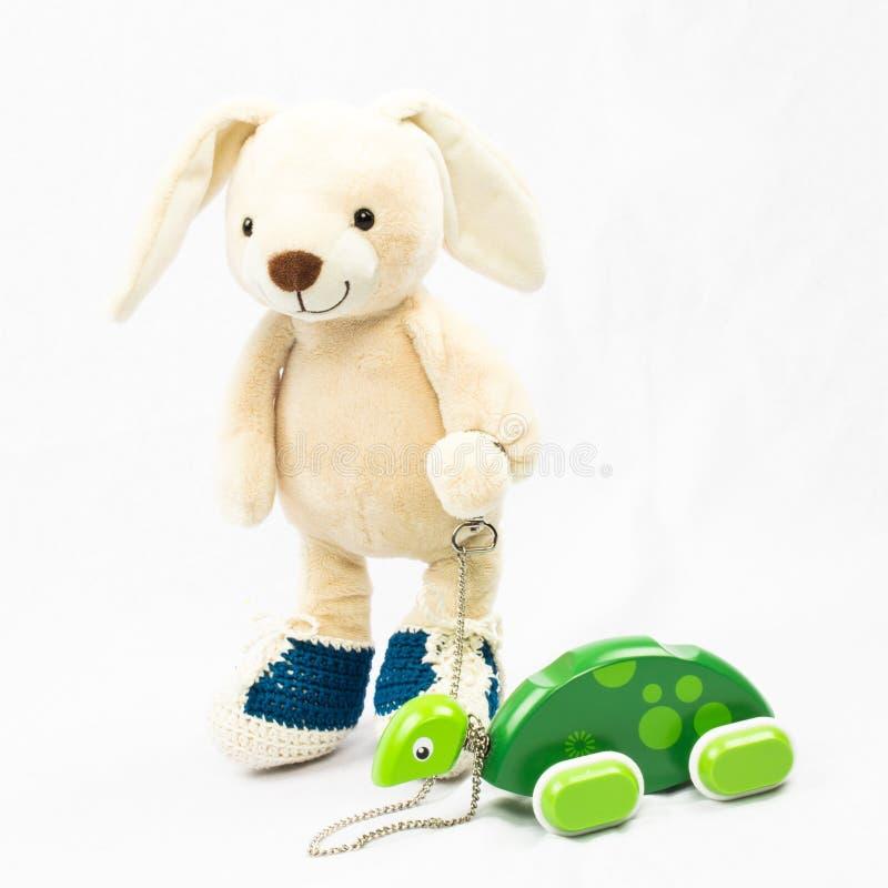królicze zabawka milutka króliczka fotografia stock