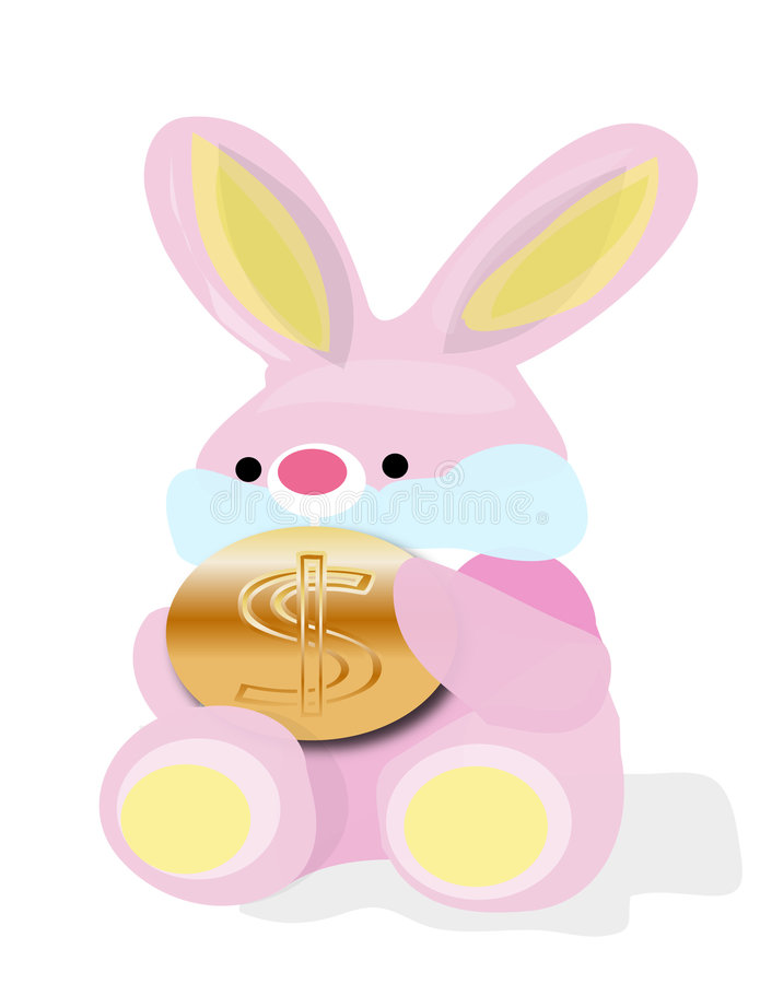 królików dolarów. zdjęcia stock