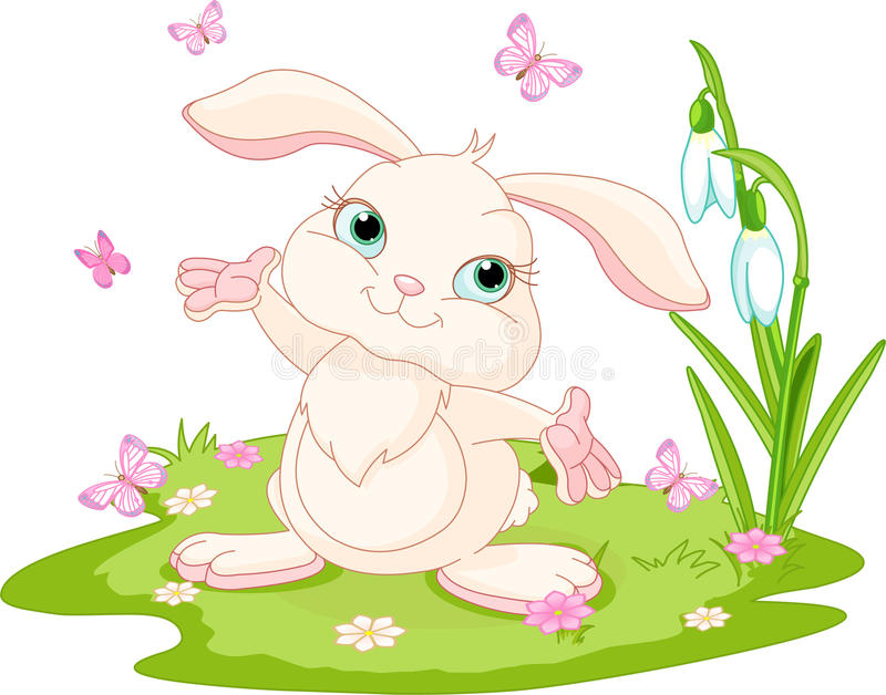 królików motyle Easter ilustracji