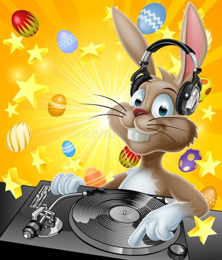 królik dj Easter ilustracji