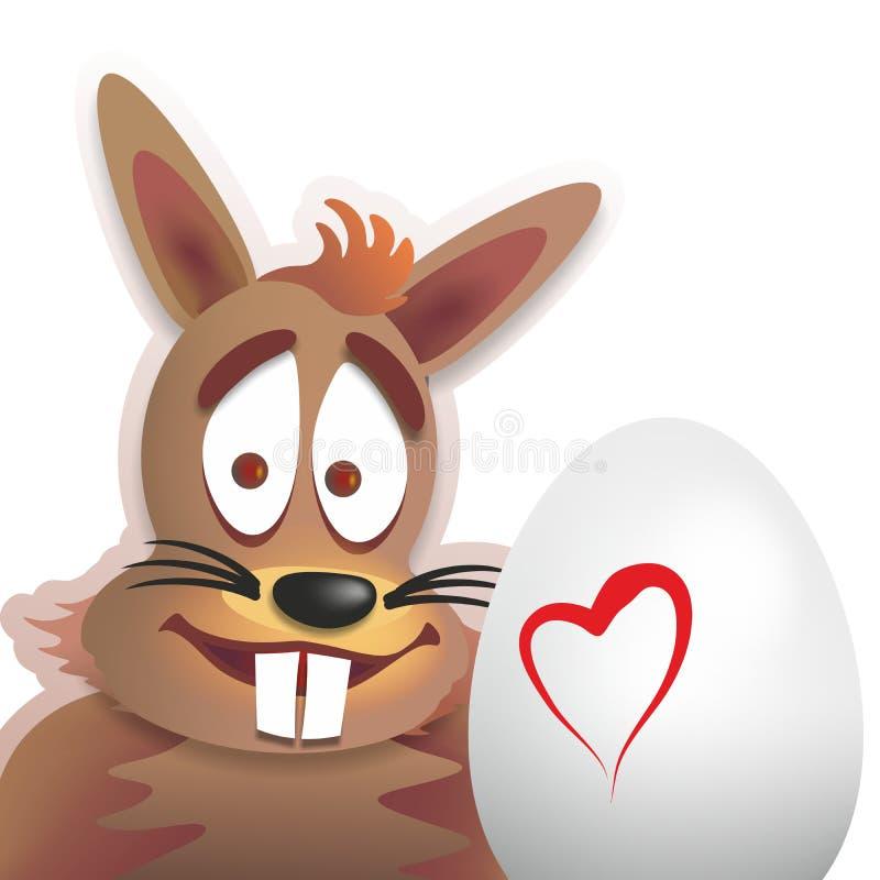 królik Easter śmieszny ilustracja wektor