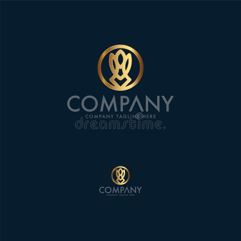 Królik i Motyli kreatywnie biznesowy logo projektujemy szablon To jest Ikonowy logo używać dla wiele zamierza i projekty ilustracja wektor