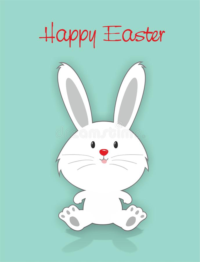 królik karciany Easter fotografia royalty free