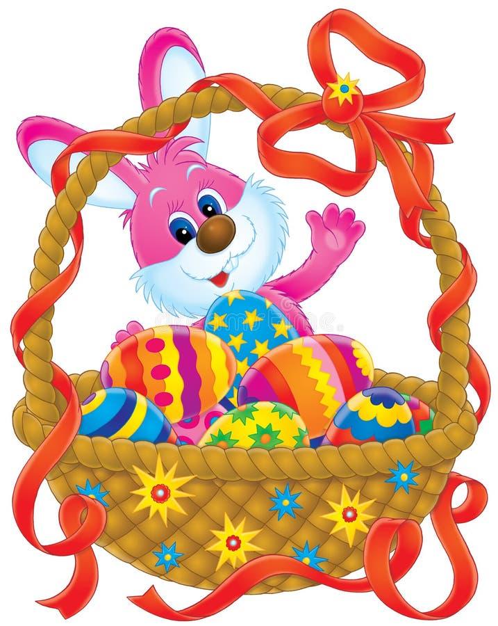 królik koszykowy Wielkanoc ilustracji