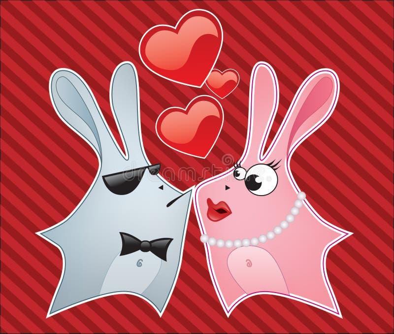królik miłość royalty ilustracja